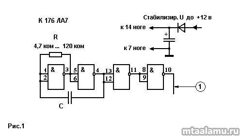 Распространенным узлом любого устройства является генератор опорной частоты.  Генераторы с кварцевой стабилизацией мы...